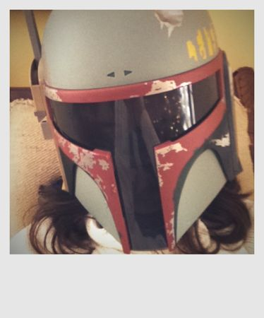 Hot Girls in Boba Fett Helmet
