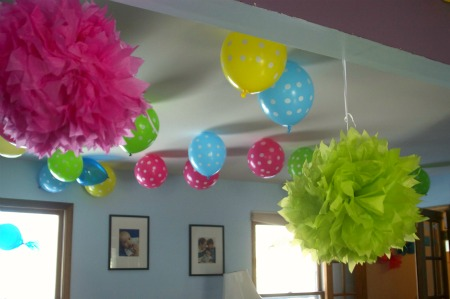 birthday party ballooons