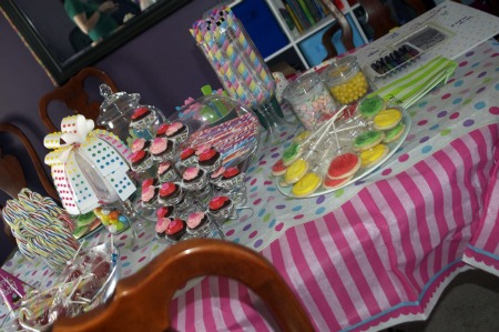 sweet shoppe table spread