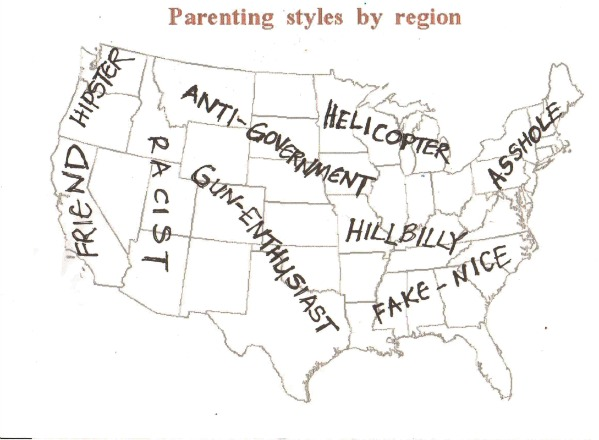 parenting map by region